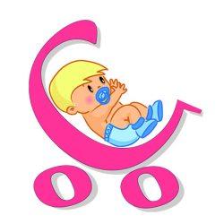 Kék szívecskés szoptatós-, kismama párna (222)