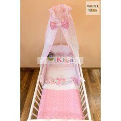 Pihe- Rózsaszín Hintázó állatkák 4 részes babaágynemű szett (P-511/R)