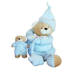 Baby Bruin Plüss spirál csörgős, sípolós játék kék
