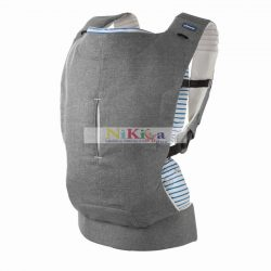 Chicco Myamaki Complete pólyás hordozó és hátihordó Grey Stripes