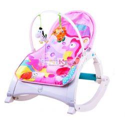 Infant Rockert 3in1 rezgő pihenőszék, hintaszék, fotel és etetőszék - pink